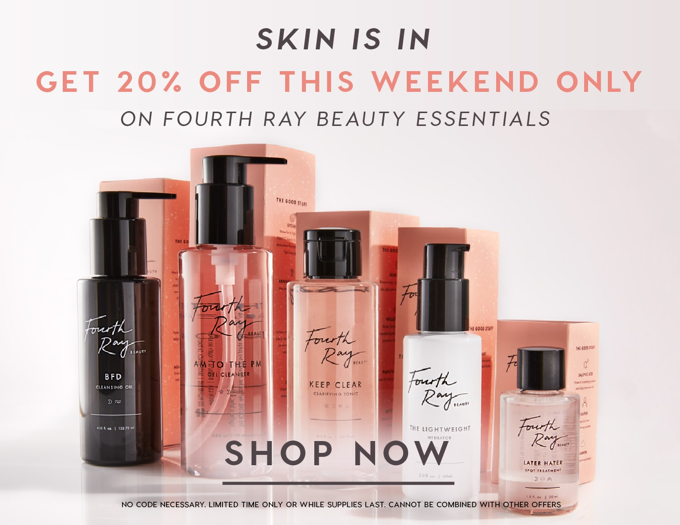 Fourth Ray Beauty Back to Basics 20% off Sale select skus