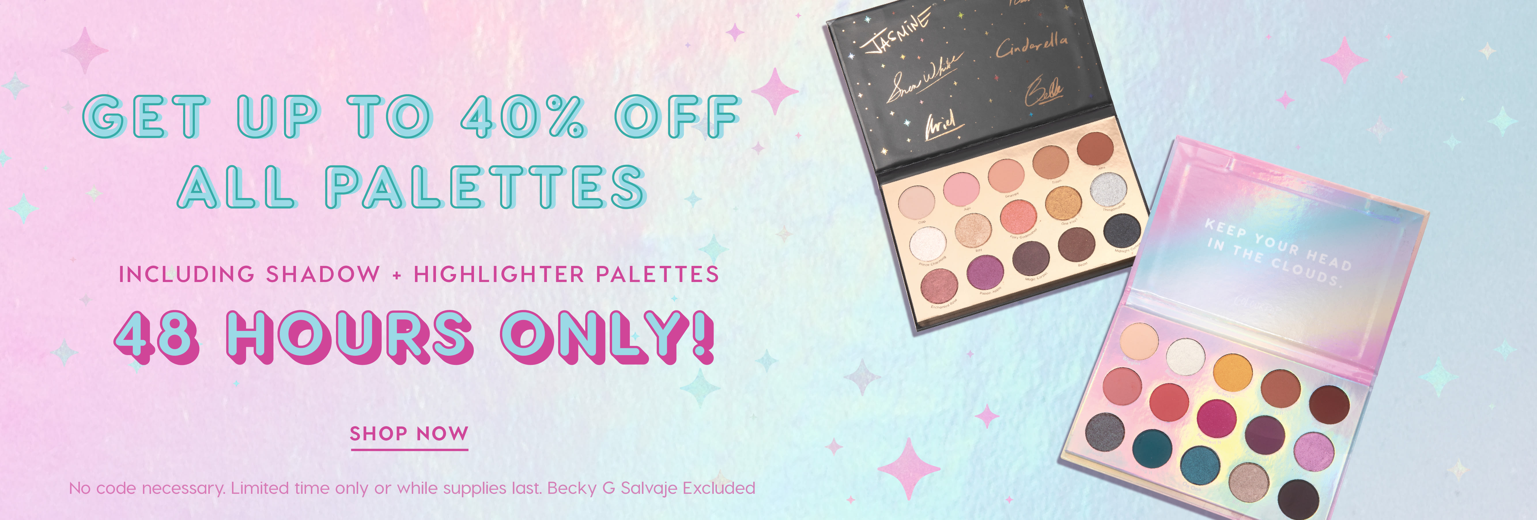 Palette Party! All Palettes up to 40% Off