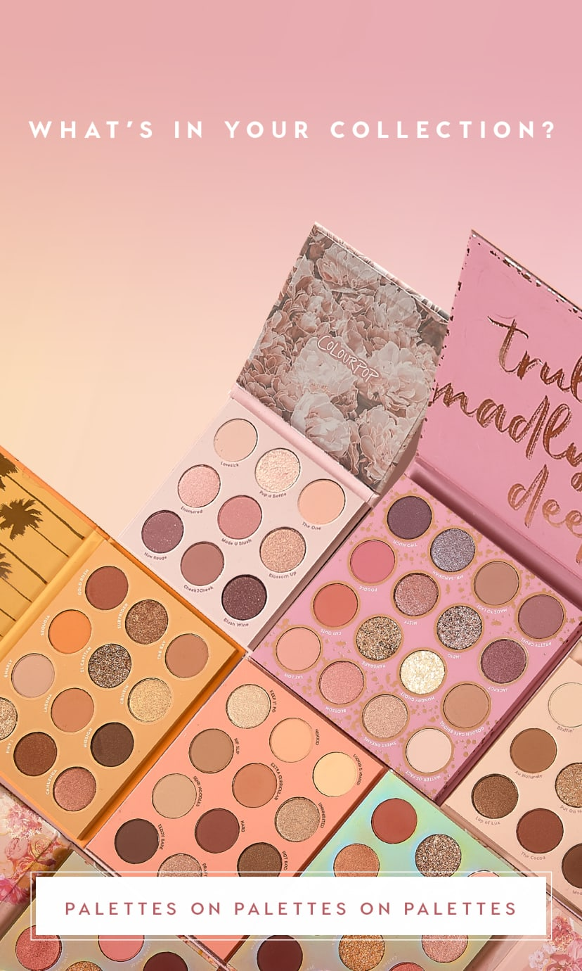 What's in your collection? Eyeshadow palettes on eyeshadow palettes