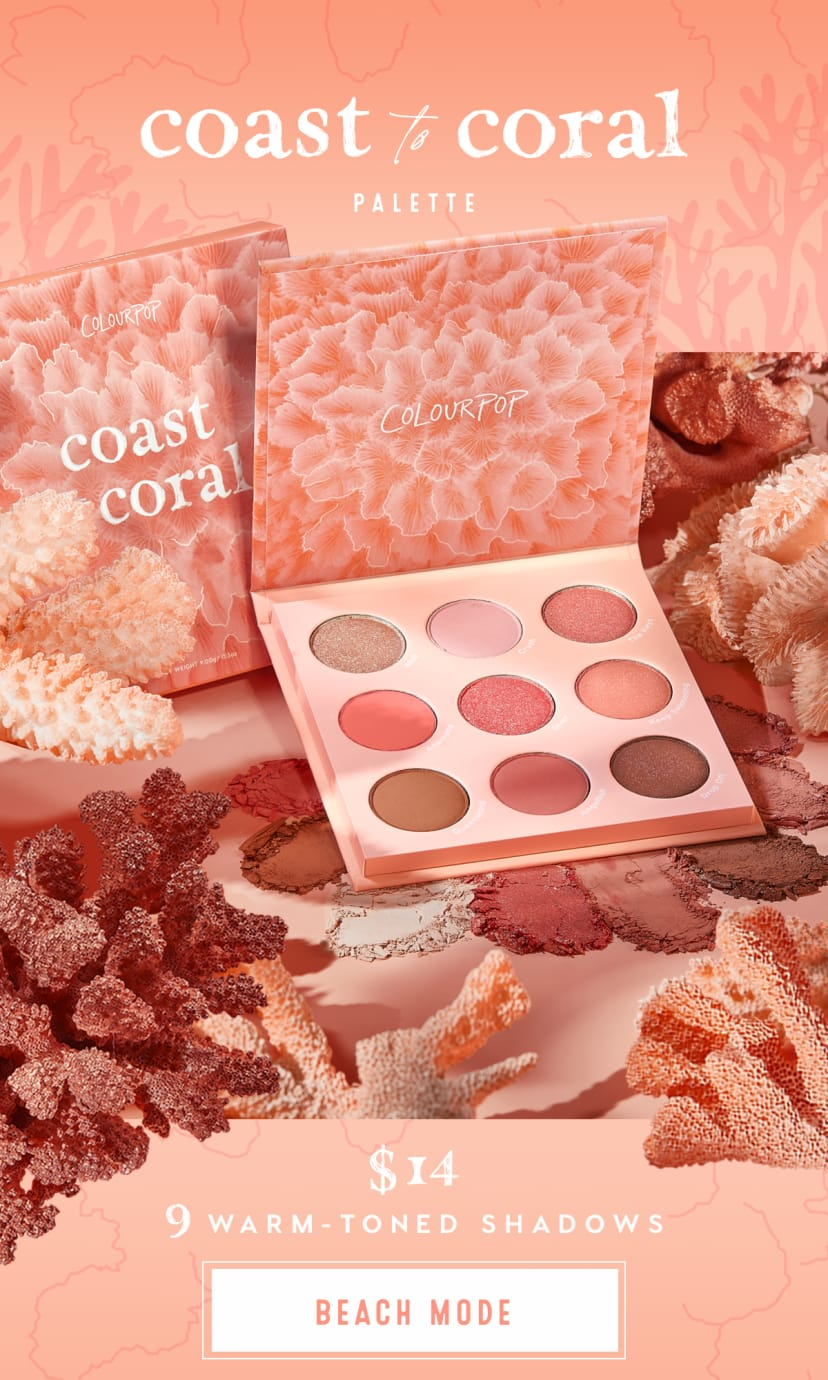coast to coral palette $14