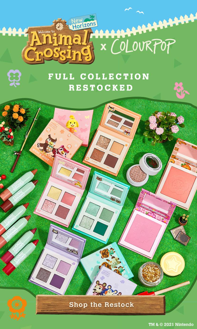 Animal Crossing x Colourpop Full Collection Restocked