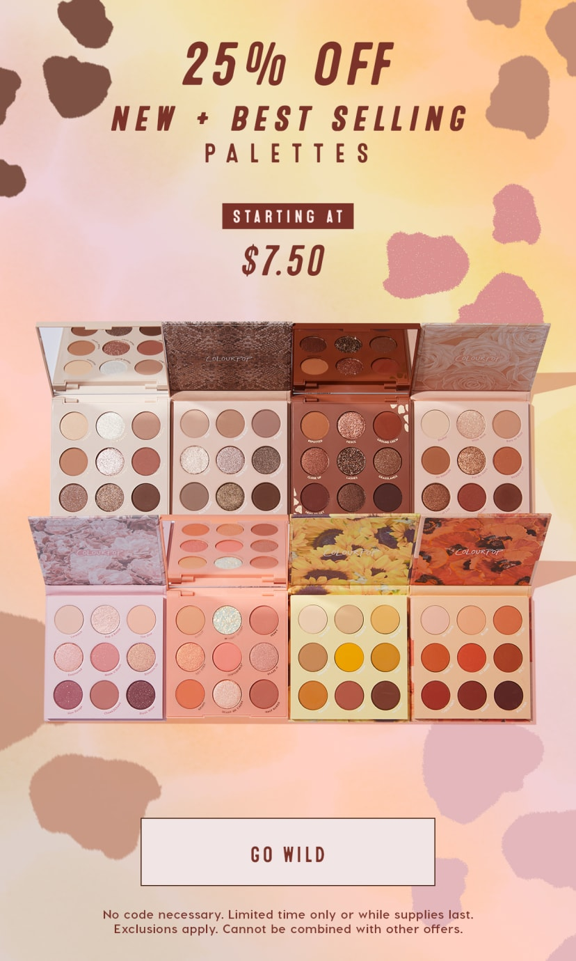 25% off New + Best Selling Palettes